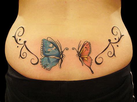 lower back butterfly tattoo designs lower back butterfly tattoos designs