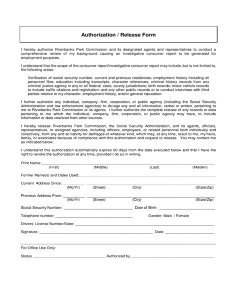 background check form template free rental background check sle form free