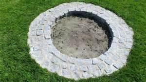 obi selbstgemacht feuerstelle aus granitsteinen