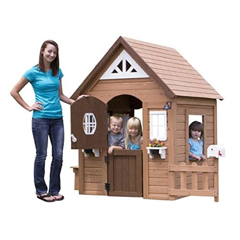 Backyard Discovery Aspen Cedar Playhouse Toys Wooden Playhouse