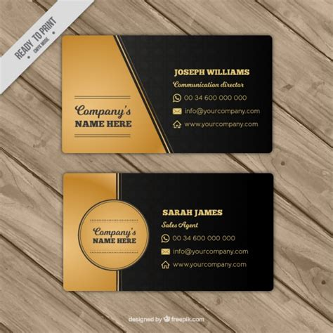 Business Cards Gold