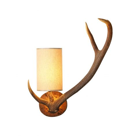 Antler Lights by Antler Stag Wall Light With Shade