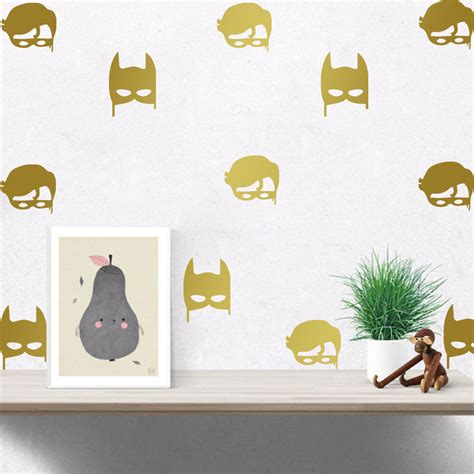 Removable Nursery Wall Decals C029 Robin Batman Wall Sticker Baby Nursery Wall Decal Removable Easy Wall Vinyl Decals