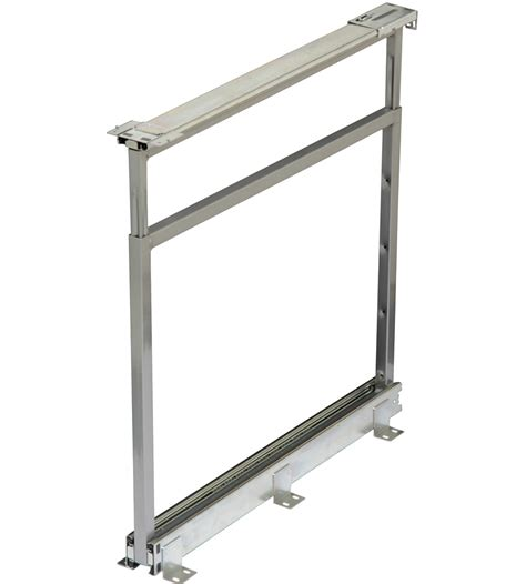 pantry cabinet pull out system center mount pantry roll out system nickel in pull out
