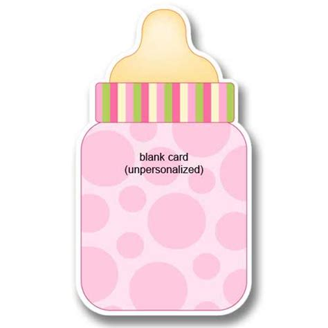 Baby Pink Bb pink baby bottle birth announcements baby cachet