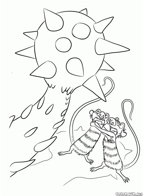Galerry spiky dinosaur coloring page