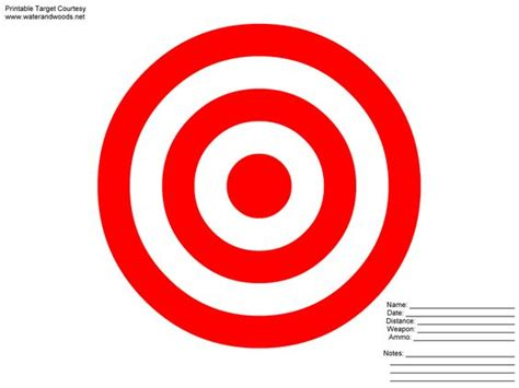 printable targets red pinterest the world s catalog of ideas