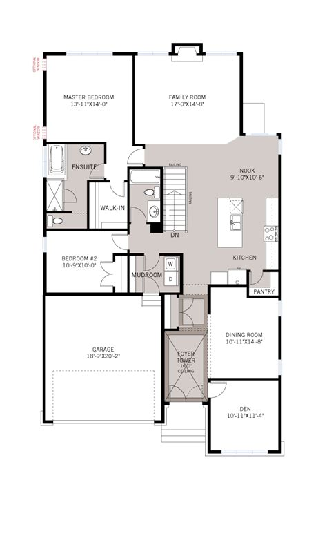 decker floor plan new home model decker in millers crossing in carleton place ottawa by cardel homes