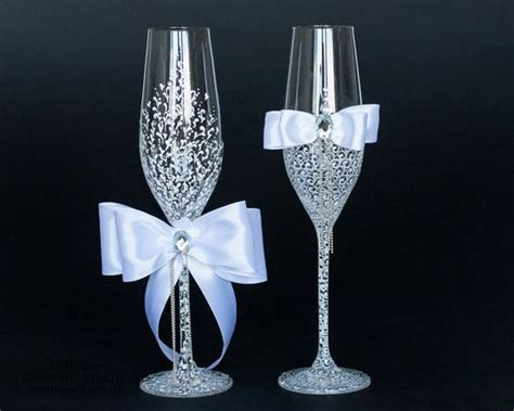 Wedding Glasses 15 white wedding glasses lace decorated by by diamoreds on etsy 49 00 fab etsy finds