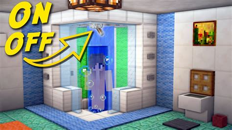 minecraft bathroom tutorial minecraft how to make a working shower bathroom