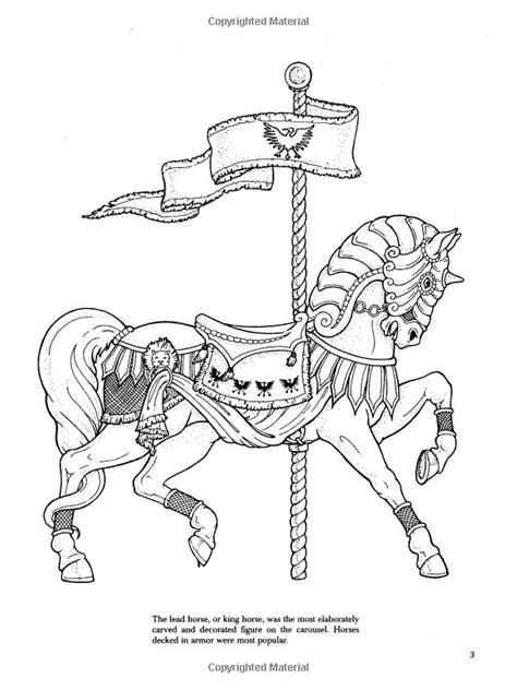coloring pictures of carousel horses carousel horse coloring pages carousel animals coloring
