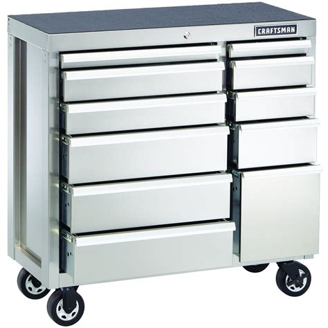 stainless steel rolling cabinet craftsman 40 inch premium heavy duty rolling cabinet