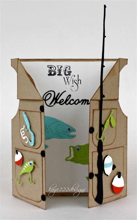fishing birthday card template beyond fishing vest card with cheery designs