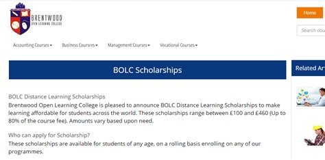 Mba Distance Learning Scholarships Students by Brentwood Open Learning College Distance Learning Armacad