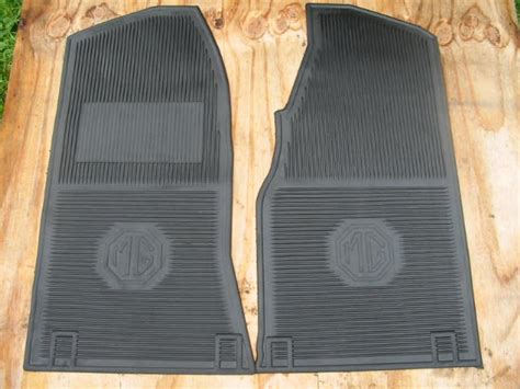 mgb floor mats amco rubber floor mat pair mgb mbc early or late new