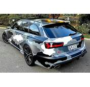 Camouflage Audi RS6 C7 With 730hp &amp Miltek Exhaust In Z&252rich  Great
