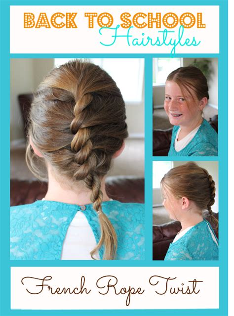 elementary school hairstyles back to school hairstyles rope twist