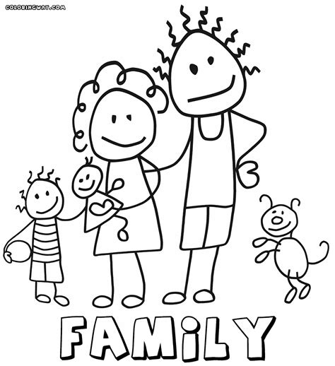 coloring page of family family coloring pages coloring pages to download and print