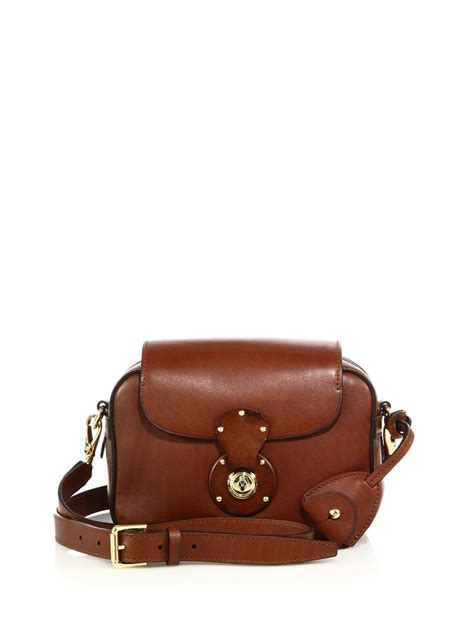 ralph ricky small leather zip crossbody bag in