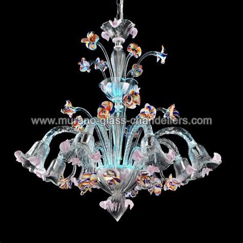 kronleuchter hellblau quot carnevale quot murano glas kronleuchter murano glass