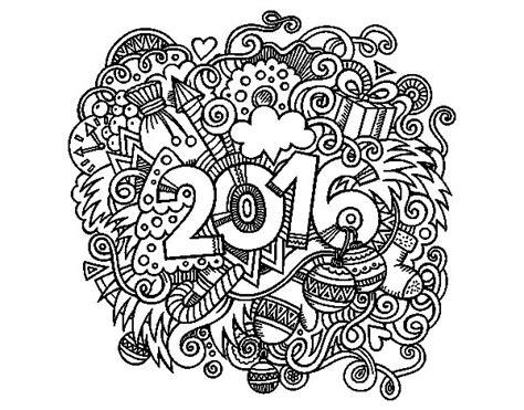 Calendario Collage Collage 2016 Coloring Page Coloringcrew