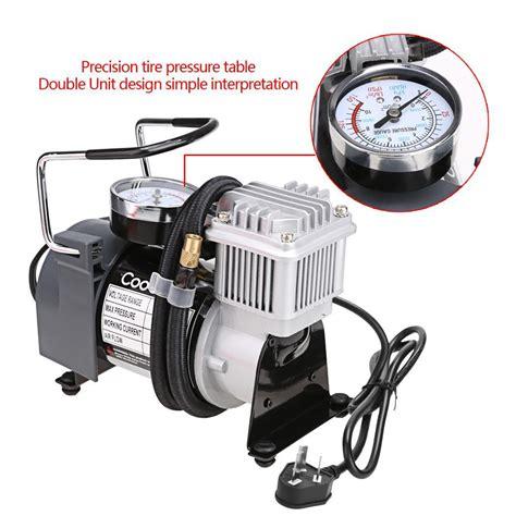 silver auto car portable electric air compressor tire inflator 120v 150 psi ebay