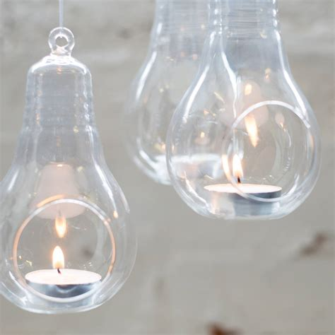 Hanging Glass Vases by Glass Lightbulb Hanging Vase By Bonnie And Bell