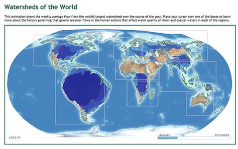 world river watershed map watersheds of the world animation global rivers observatory