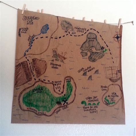 map crafts for pirate treasure map family crafts
