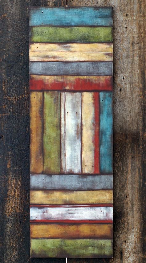 items similar to large abstract original acrylic painting barnwood painting heavy