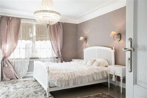 wohnideen schlafzimmer romantisch weiblich gardinen - Leuchter Schlafzimmer