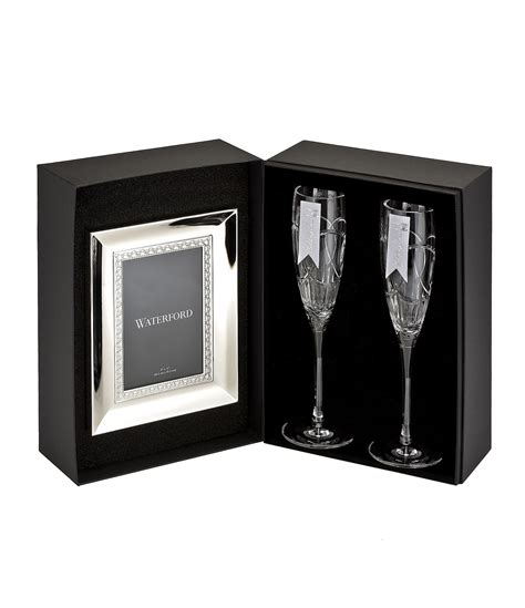Dillards Gift Cards For Sale - waterford crystal wedding vows flute pair and frame gift set dillards