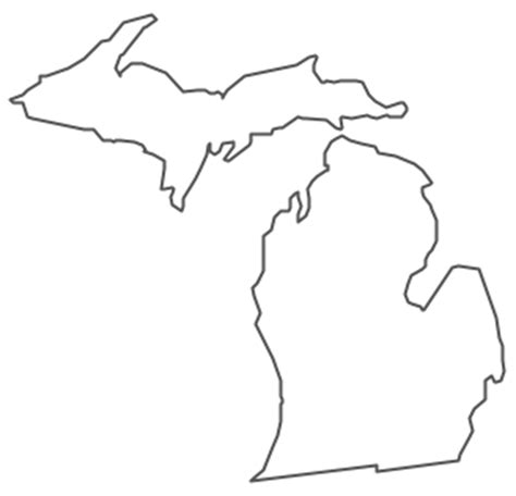 Outline Of Michigan State by Geo Map Usa Michigan