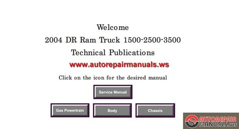 dodge ram 1500 2500 3500 2004 service manual auto repair manual forum heavy equipment forums