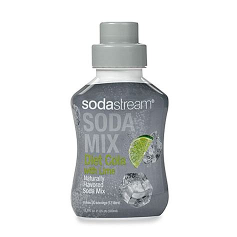 sodastream bed bath and beyond buy sodastream diet cola with lime sodamix flavor from bed