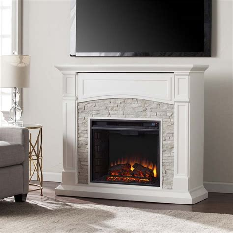 Electric Fireplace Faux by Southern Enterprises Seneca Faux Electric Fireplace
