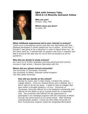 Biography Exle Scientist | lifescitrc org q a with inimary toby ph d 2011 aps k