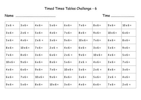 revision table multiplication times tables revision sheets no answers by lynellie