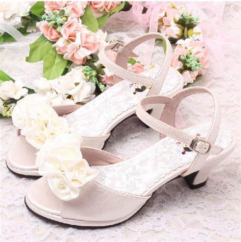 cheap ivory flower shoes discount flower ivory bridal wedding sandals summer