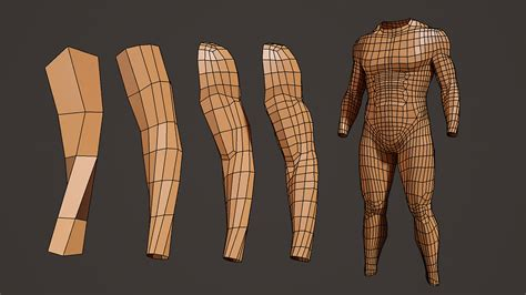 zbrush arm tutorial male body model and arm modeling process tutorial at