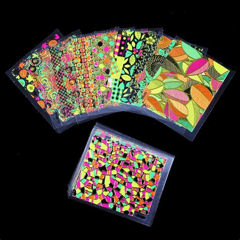 3d Nail Sticker 24pcs lot nail stickers 3d sticker for nails colorful leaf design nail charms