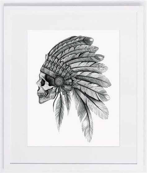 digital tattoo printer nzfinch a4 indian chief skull headdress feathers digital