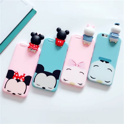Casing Mickey Mouse Iphone 6 6s 7 7s 7 7s luxury 3d mickey minnie mouse caqa for iphone 7 plus 7 cover