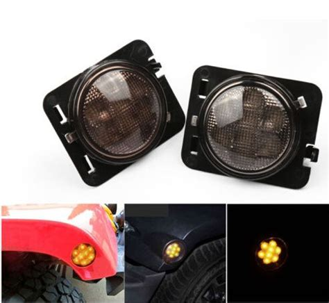 len 16v 3w led side maker lights for jeep wrangler front fender