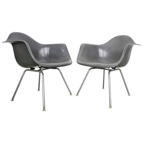 eames armchairs pair of elephant grey eames armchairs at 1stdibs