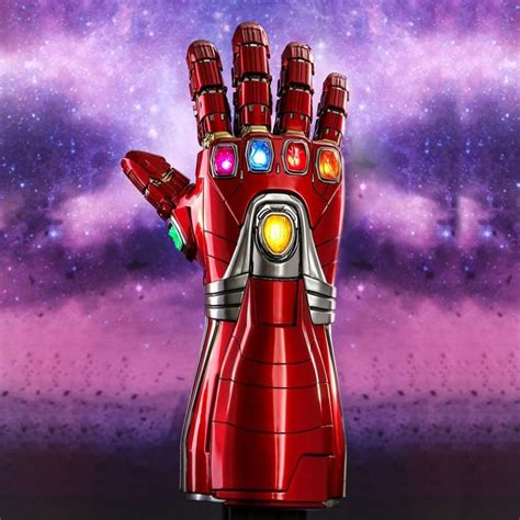 cool pvc led light avengers endgame iron man nano