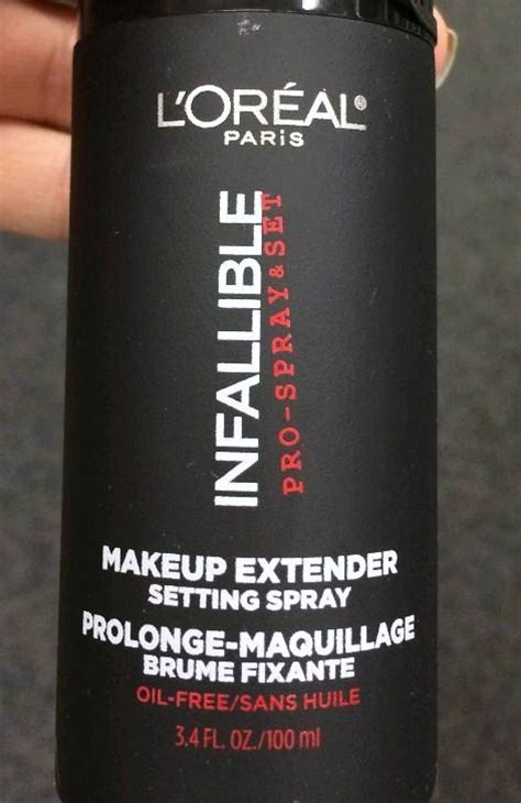L Oreal Infallible Makeup Extender Setting Spray spotted new l oreal infallible pro set spray makeup