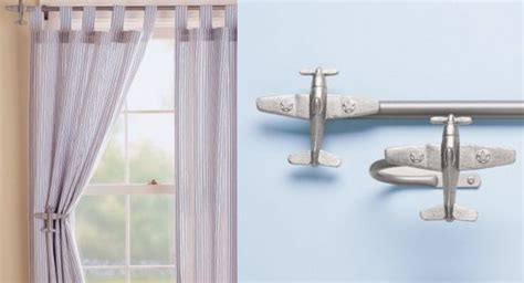 vintage airplane curtains airplanes airplane curtain rods holdbacks ideas for