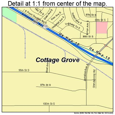 cottage grove minnesota map 2713456