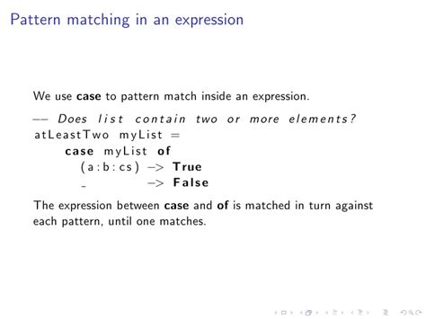 pattern matching list haskell defun 2008 real world haskell